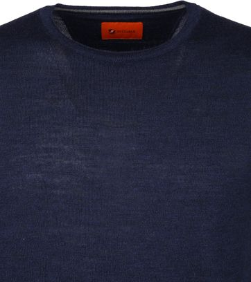 Suitable Merino Pullover O-neck Navy
