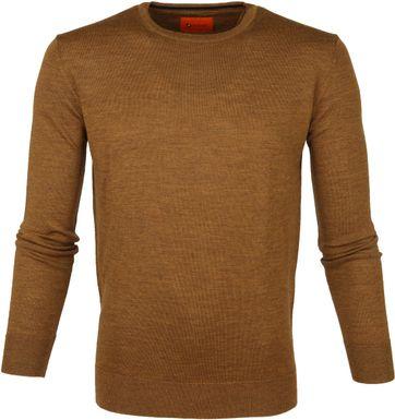 Suitable Merino Pullover O-neck Ocre Brown