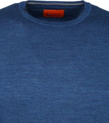 Suitable Merino Pullover O-neck Petrol Blau