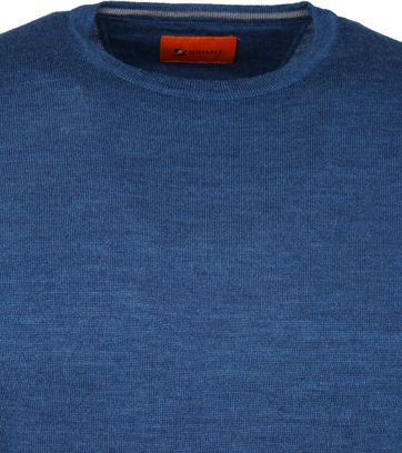 Suitable Merino Pullover O-neck Petrol Blue