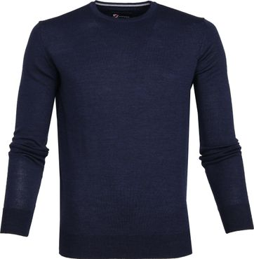 Suitable Merino Pullover R-Neck Navy