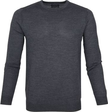 Suitable Merino Pullover Rick Antraciet