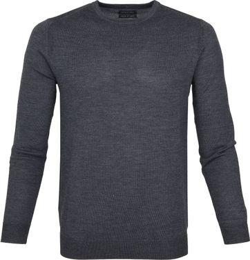 Suitable Merino Pullover Rick Dark Grey