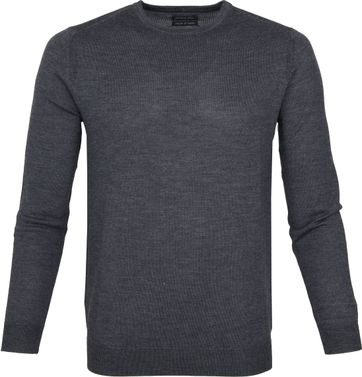 Suitable Merino Pullover Rick Dunkelgrau