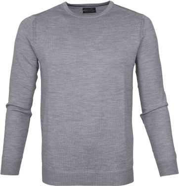 Suitable Merino Pullover Rick Grijs