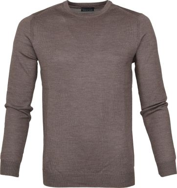 Suitable Merino Pullover Rick Light Brown
