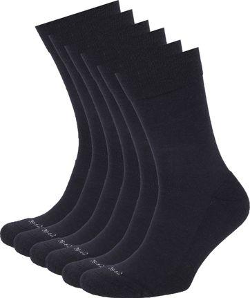 Suitable Merino Socken Navy 6-Pack