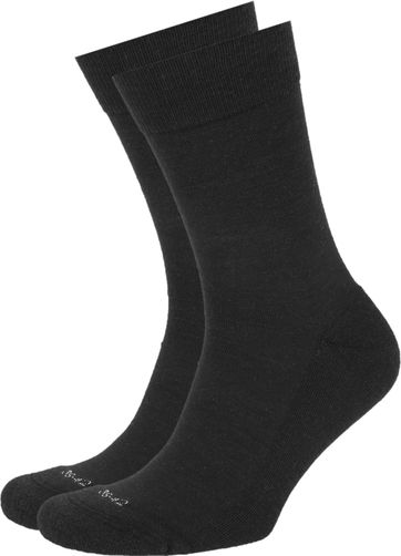 Suitable Merino Socken Schwarz 2-Pack