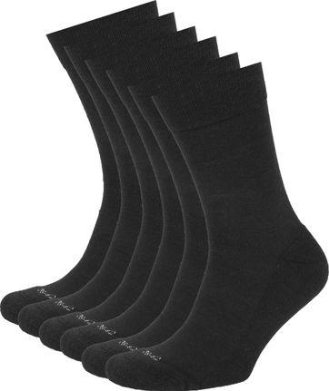 Suitable Merino Socken Schwarz 6-Pack