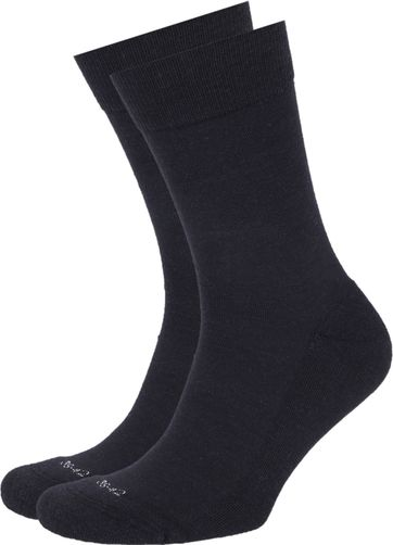 Suitable Merino Socks Navy 2-Pack