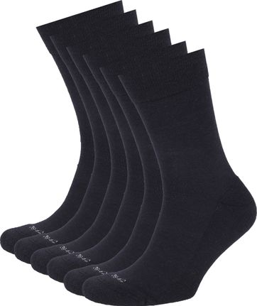 Suitable Merino Sokken Navy 6-Pack