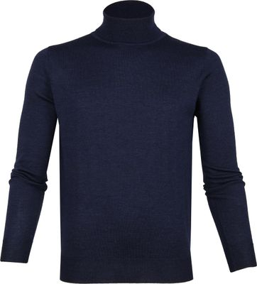 Suitable Merino Turtleneck Navy