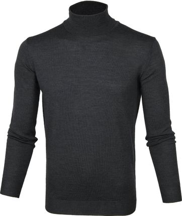 Suitable Merino Turtleneck Pull Dark Grey