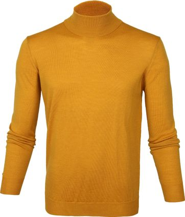 Suitable Merino Turtleneck Pull Ochre Yellow