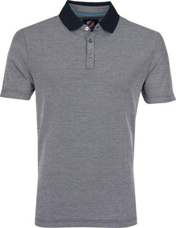 Suitable Mesh Poloshirt Dunkelblau