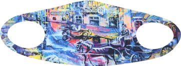 Suitable Mondkapje Print Painting