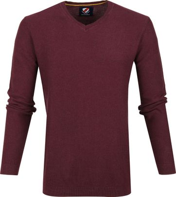 Suitable Neil Pullover Bordeaux