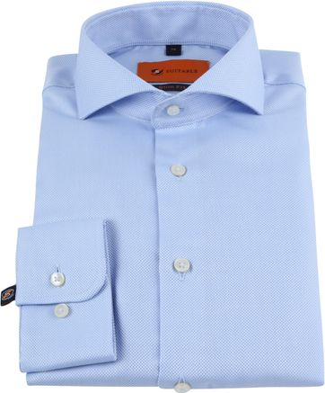Suitable Non Iron Hemd Blau