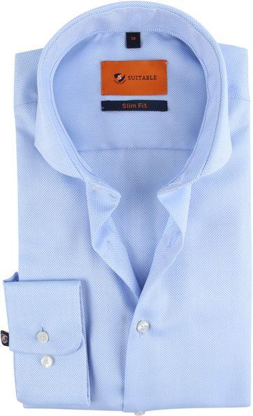 Suitable Non Iron Hemd Blauw