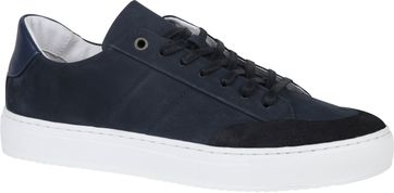 Suitable Nubuck Skave Sneaker Donkerblauw