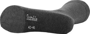 Suitable Organic Cotton Socks Dark Grey 3-Pack