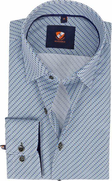 Suitable Overhemd 227-3 Drip Drop Groen