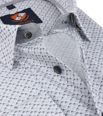 Detail Suitable Overhemd Blauw