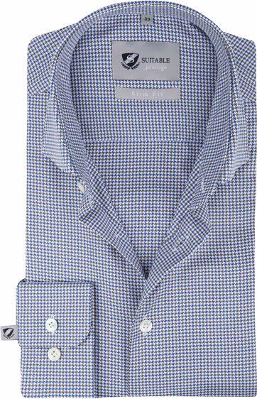 Suitable Overhemd Blauw 187-4