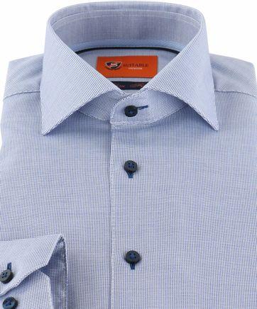 Detail Suitable Overhemd Blauw D72-02