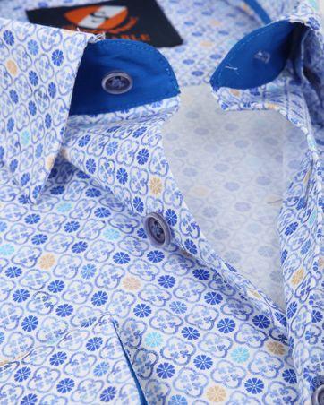 Suitable Overhemd Blauw Dessin 181-4