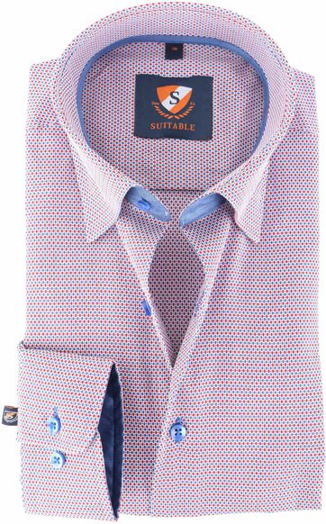 Suitable Overhemd Blauw Rood 143-5
