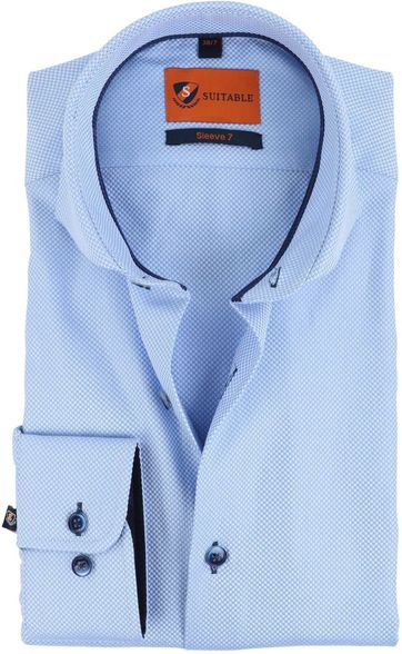 Suitable Overhemd Blauw S7