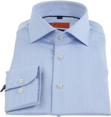 Suitable Overhemd Blauw Skinny Fit