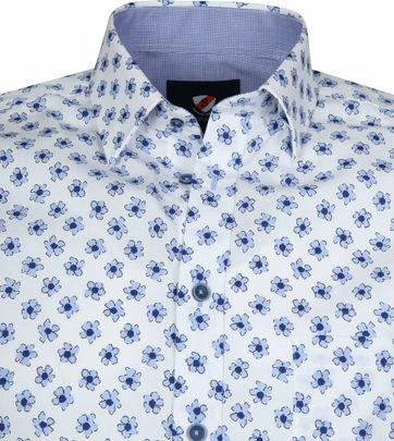 Suitable Overhemd Bloemen Lichtblauw