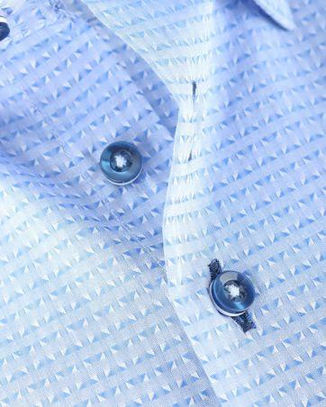 Detail Suitable Overhemd Blue Jacquard 143-2