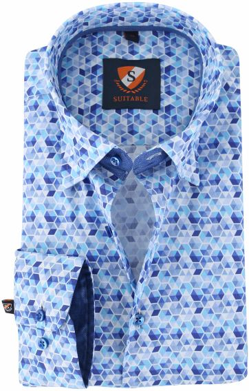Suitable Overhemd Blue Print 149-5