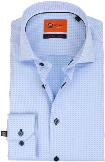 Suitable Overhemd Carre Blauw