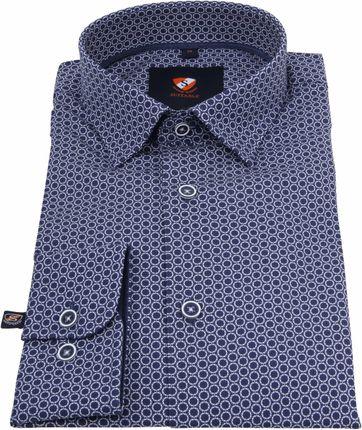 Suitable Overhemd Cirkels Donkerblauw