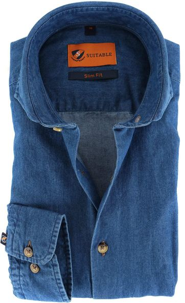 Suitable Overhemd Denim 156-7