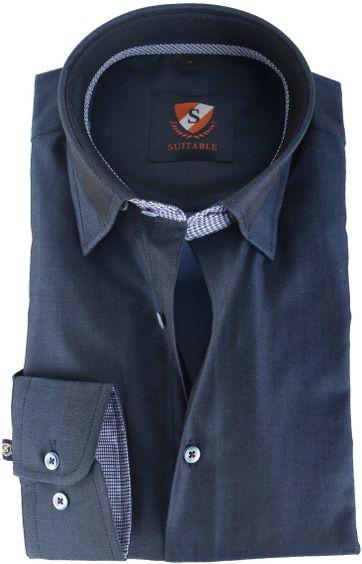 Suitable Overhemd Donkerblauw 145-3