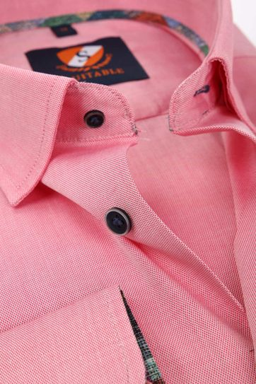 Suitable Overhemd Donkerroze 183-4