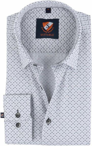 Suitable Overhemd Grey Wave