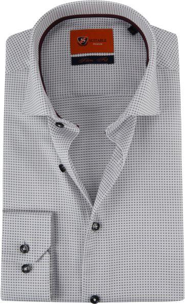 Suitable Overhemd Grijs D82-11