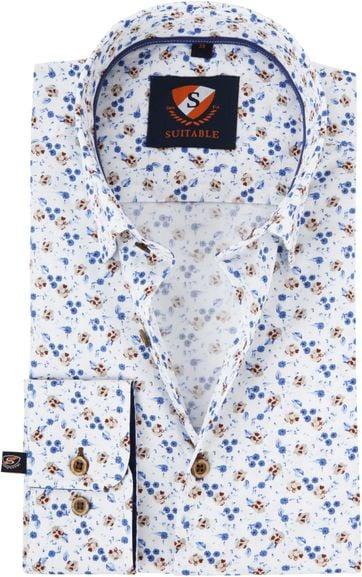 Suitable Overhemd HBD Bouquet Blauw