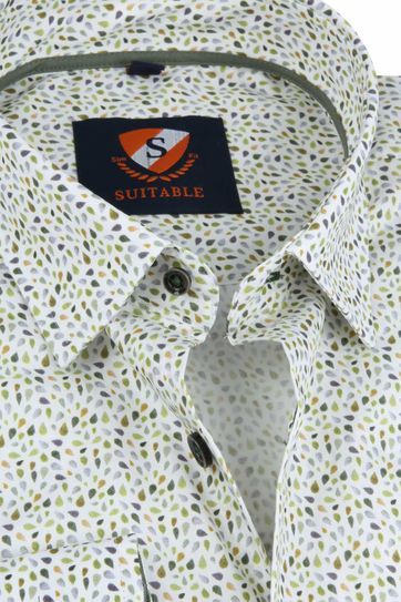 Suitable Overhemd HBD Druppels Groen