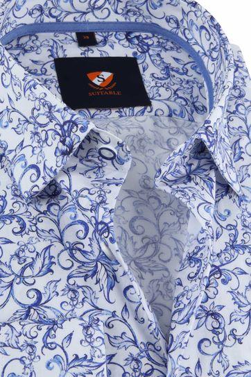 Suitable Overhemd HBD Inkt Bloemen