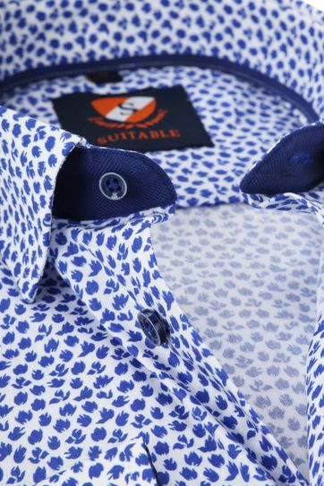 Suitable Overhemd HBD Leaf Royal Blauw