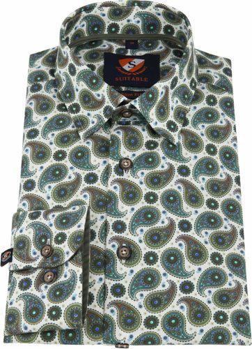 Suitable Overhemd HBD Paisley Groen