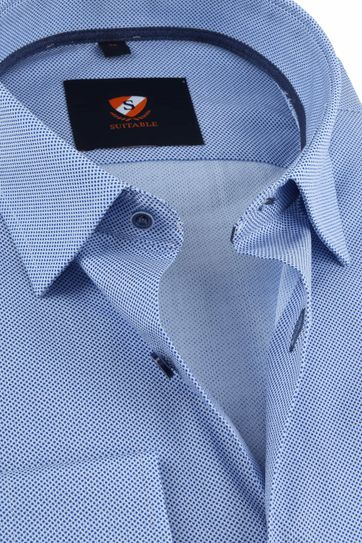 Suitable Overhemd HBD Stippen Blauw