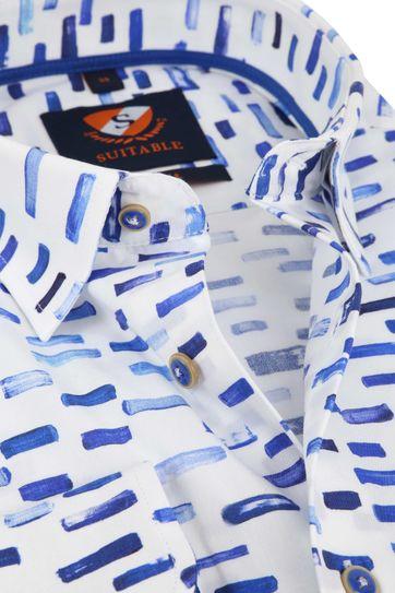 Suitable Overhemd HBD Streep Blauw
